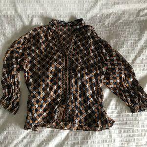 Boho Zara button down blouse